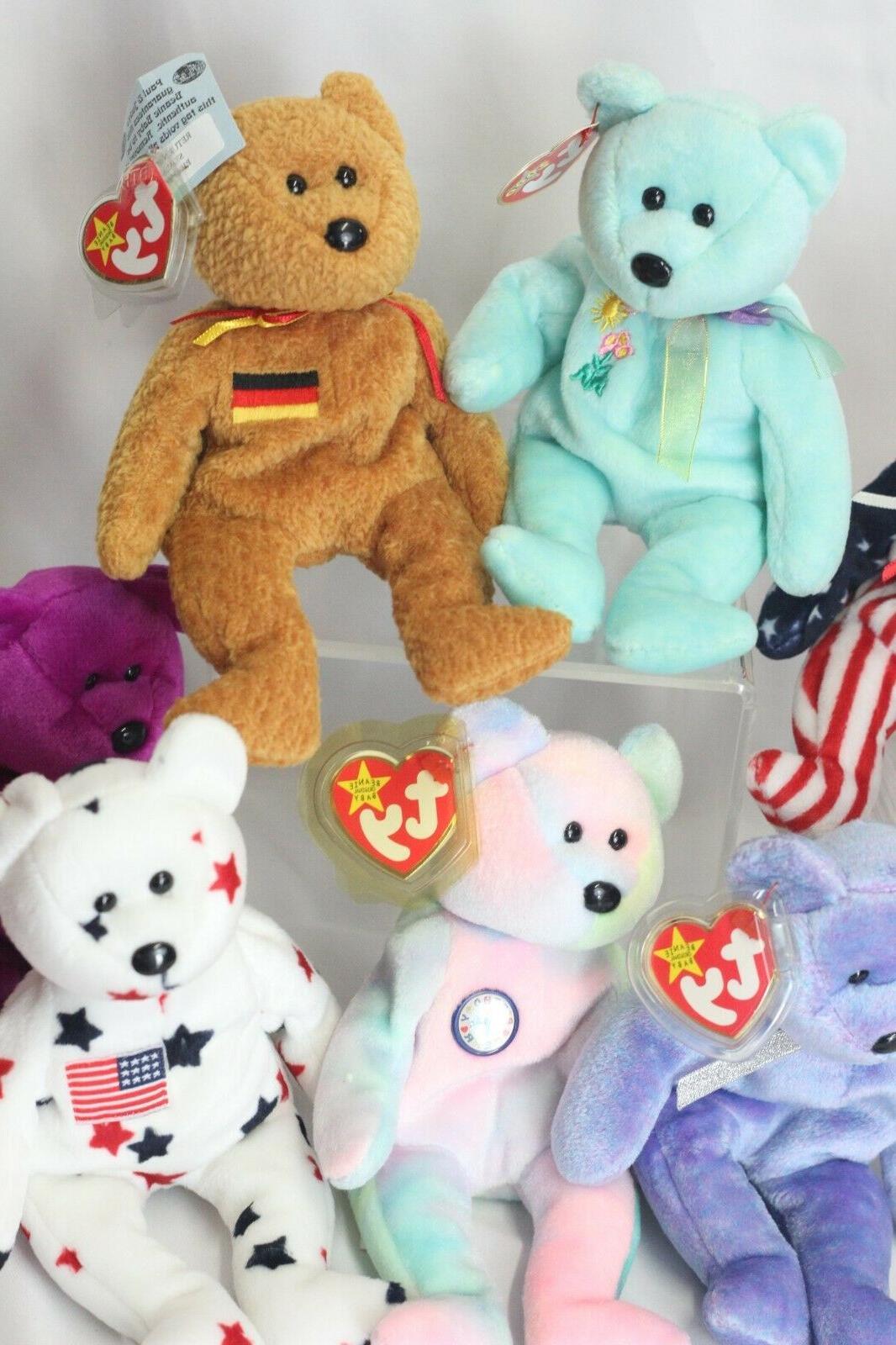 Ty Bears 9 Plush Toys Rare Germania