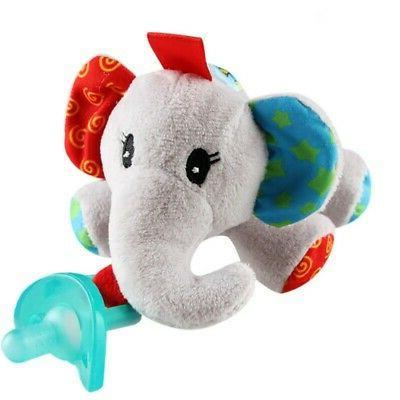 Pacifier Holder Toys Handbells Plush Baby Gift Doll