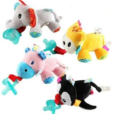 Pacifier Holder Toys Animal Baby Toy Gift Doll