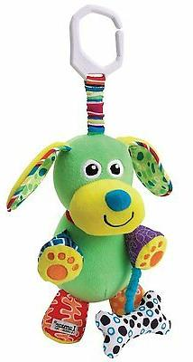 Lamaze Play & Grow Pupsqueak Take Along Toy Plush Dog Stroll