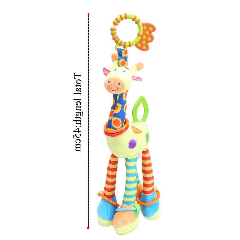 Plush Infant Baby Development Soft Rattles Handle
