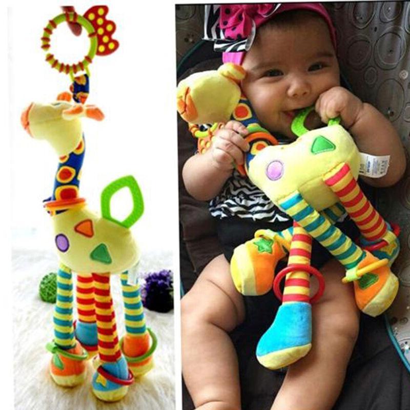 plush infant baby development soft giraffe animal