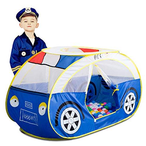police car play tent