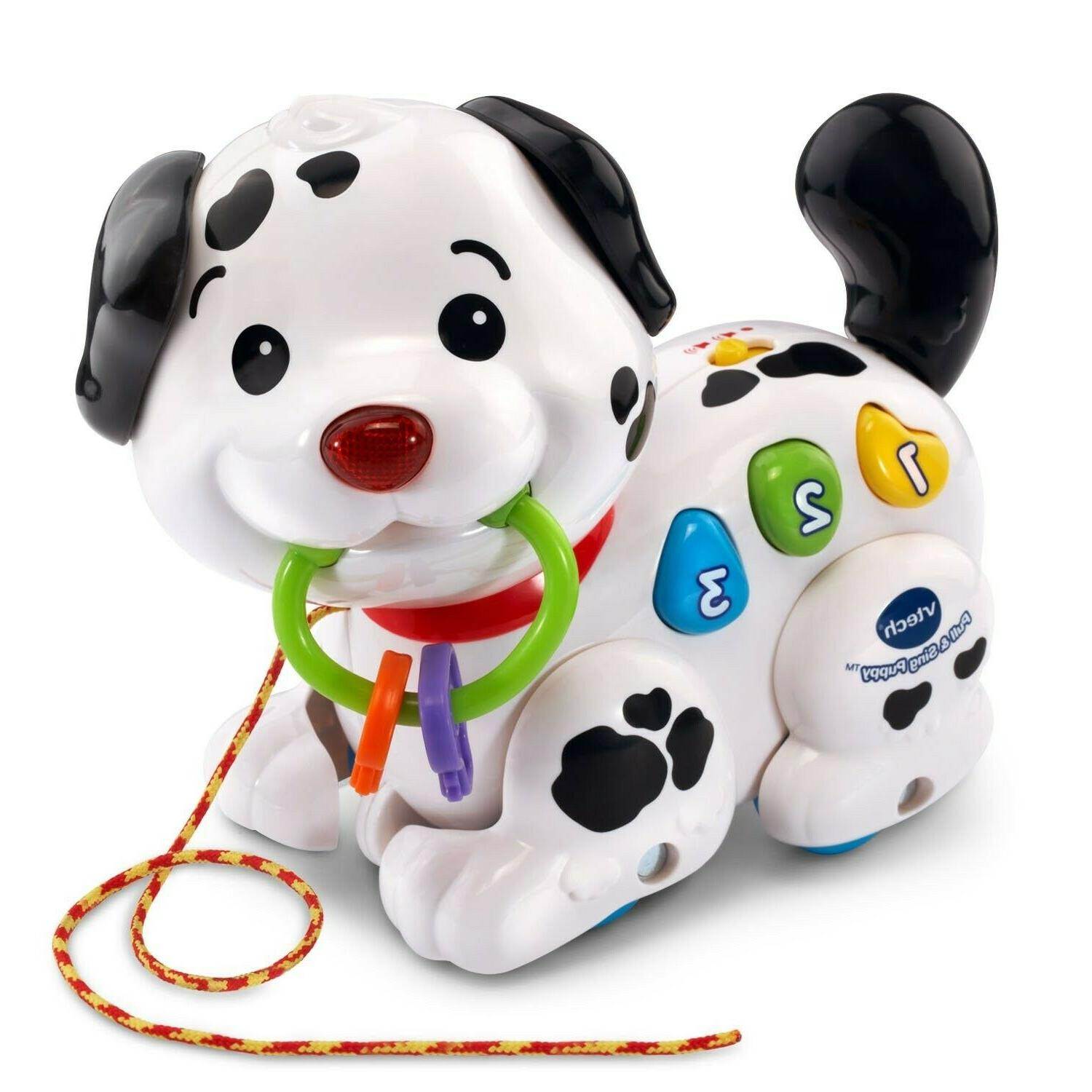 pull and sing puppy educational toys