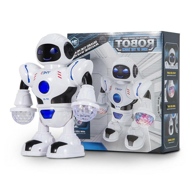 Toys Boys Walking Robot LED Lights Musical Baby Xmas Gift