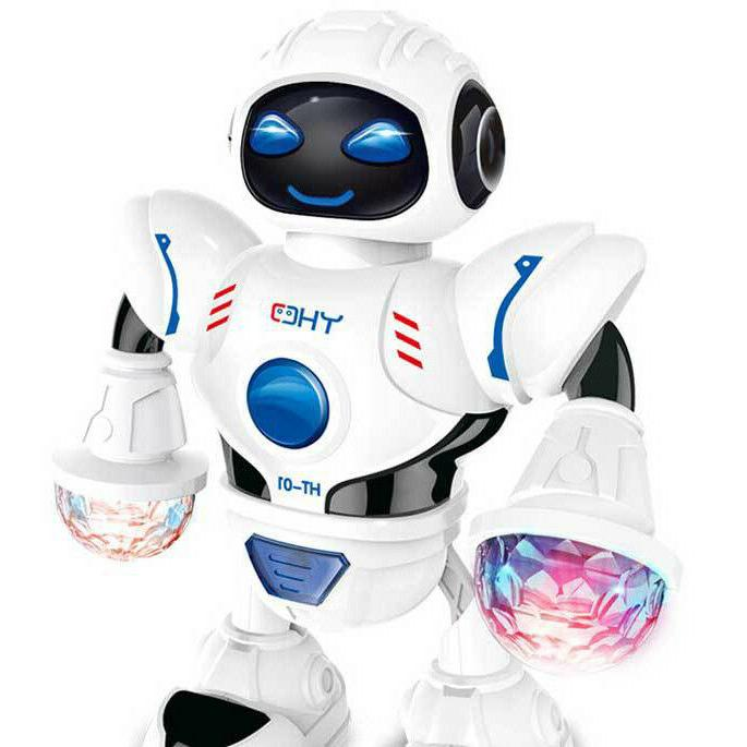 Toys Boys Electric Walking Robot LED Lights Musical Baby Xmas Gift