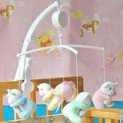 rotary baby mobile crib bed toys clockwork