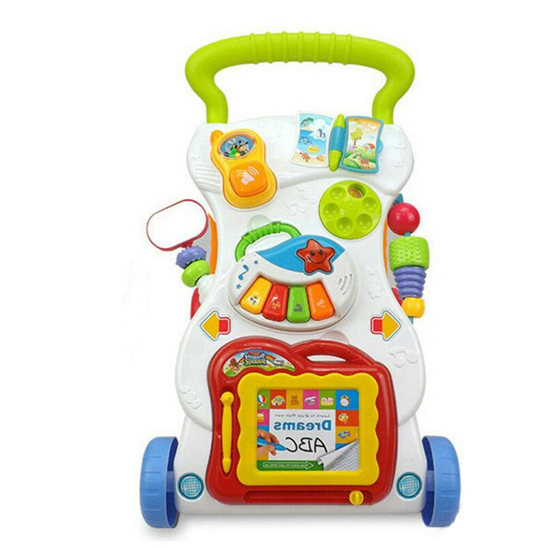 Music Baby Walker Baby First Step Car Baby Trolley Sit-to-St