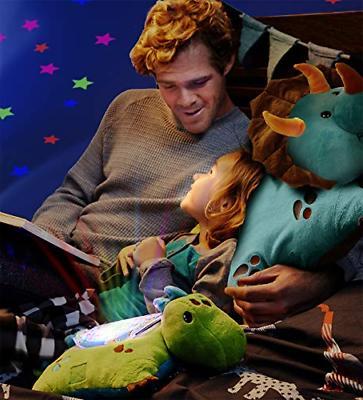 Pillow Sleeptime Lites Green Dinosaur Animal Plush Light