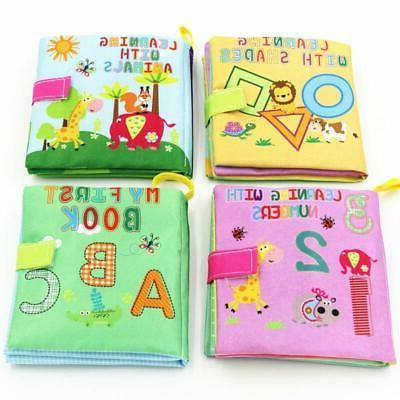 soft cloth books rustle sound baby toys