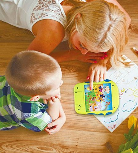 """Spanish Learning Tablet Educational Toy Kids. Touch-and-Learn Spanish with Spanish ABCs, Is?"""" Melodies, Animals and"""