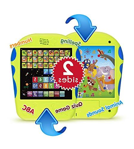 """Spanish Tablet Toy Touch-and-Learn Alphabet with Number Spanish ABCs, Spelling, """"Where Is?"""" Games, and Sounds"""