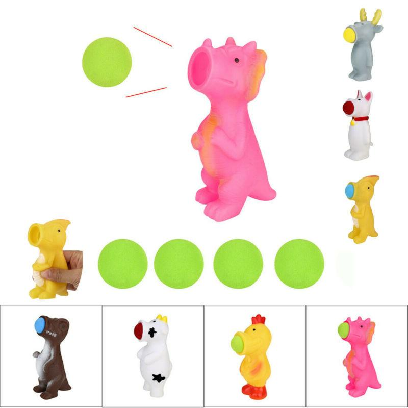 spit balls animal popper toys shooting squeeze