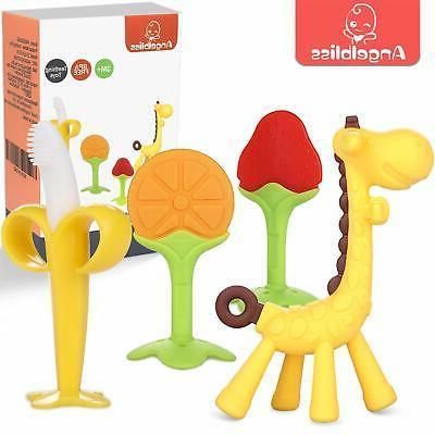 teething toys 4 pack angelbliss baby teething