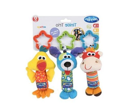 tinkle trio hanging baby toys improves fine