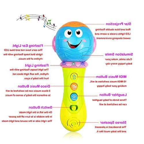 SUGOO for Year Microphone for 2-3 Old Girls Kid Toy Toddler Gift for 1-3 Girl Microphone Toy for 1 Boy Birthday 6-18