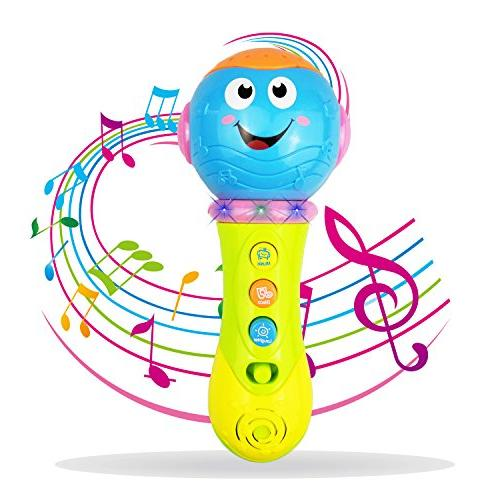 SUGOO Toy for 1 Year Microphone Old Toy for 3-12 Toddler Boy 1-3 Year Girl Microphone 1 2 3 Boy Birthday Gift 6-18