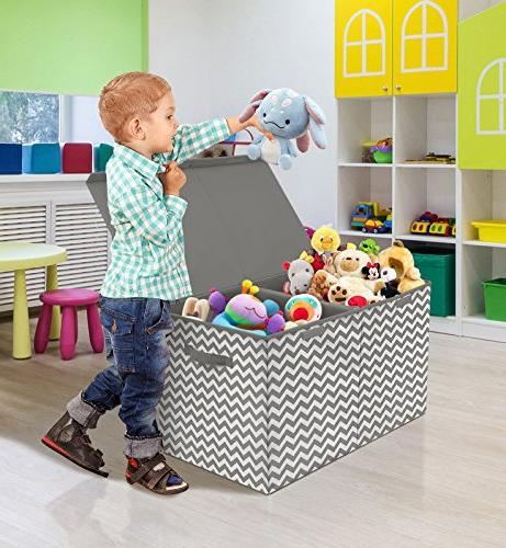 Sorbus Chest with Flip-Top Lid, Kids Storage Closet, Organization,