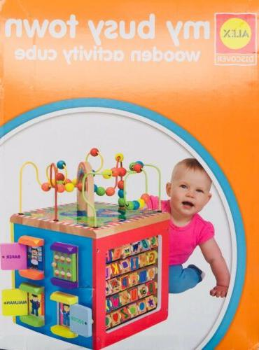 ALEX Toys Busy Town Wooden Cube...