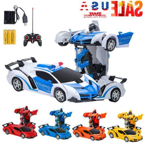 toys for kids transformer rc robot car