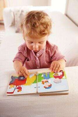 HABA Tractor Book with Easy Pages 10 Months Up