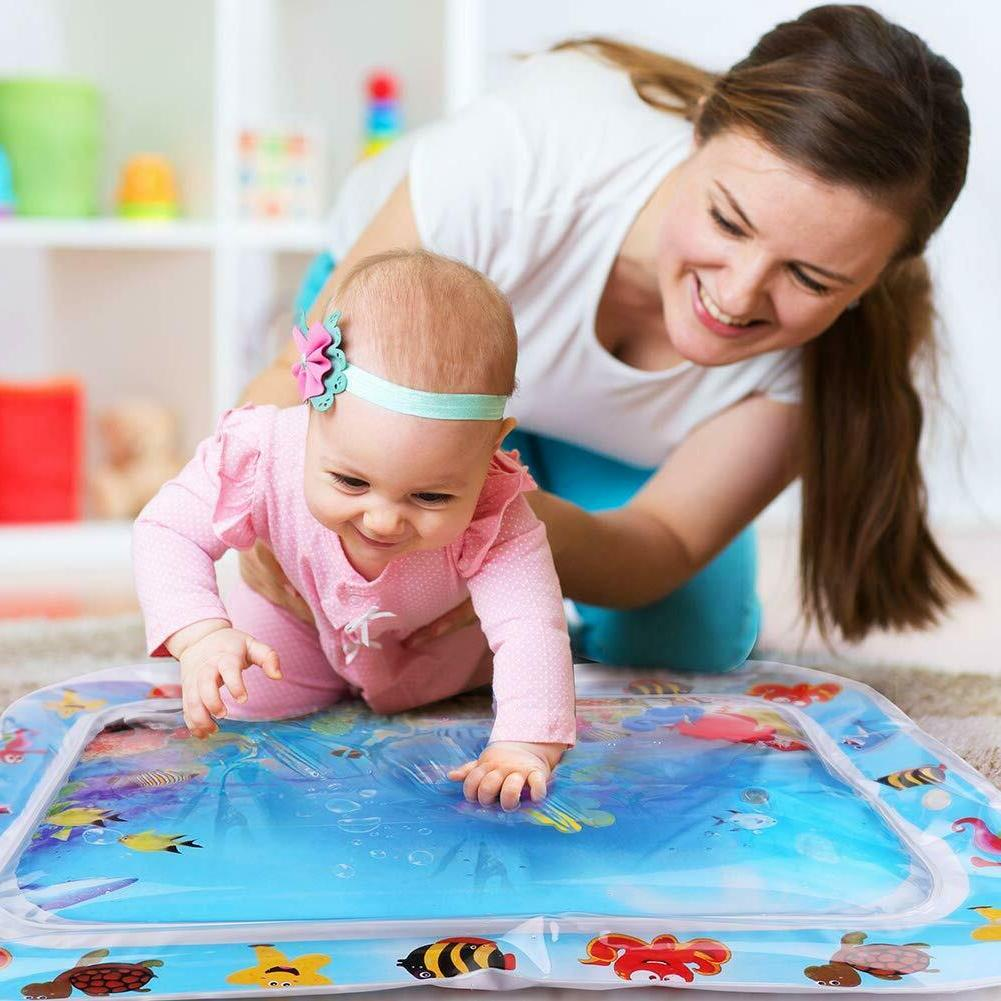 Tummy Time Inflatable Infants Baby Water Mat Fun Activity La