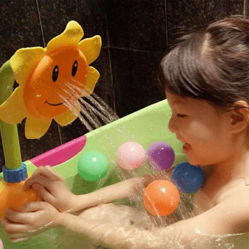 US Children Bath Sunflower Spray Water Shower Toys