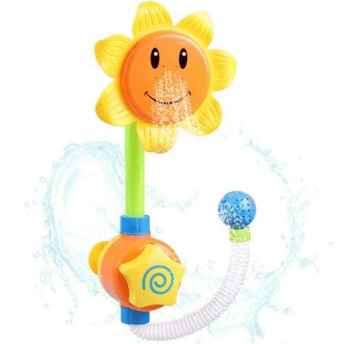 US Baby Children Bath Sunflower Water Shower Toys