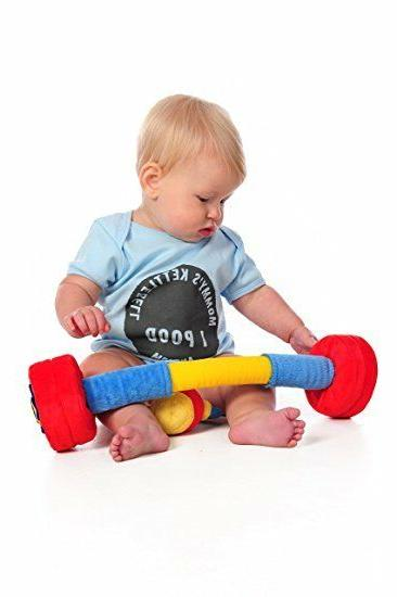 WOD Barbell Plush Toy for Infants and Babies