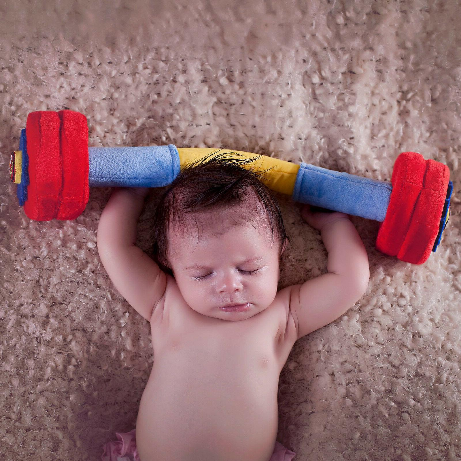 wod toys baby barbell plush with rattle