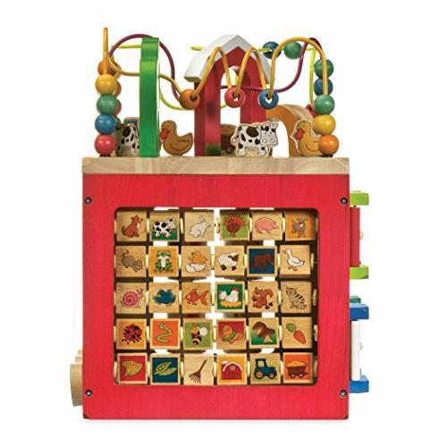 Battat – Wooden Cube Animals Center for Kids 1 year