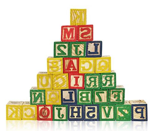 Wooden Best Wagon ABC Wooden Block Letters Come Pull Wagon for Storage Entertaining Wooden Toy Toddlers, Pieces