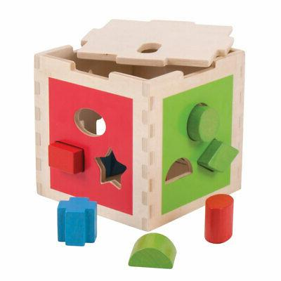 Bigjigs Toys Educational Shape Cube