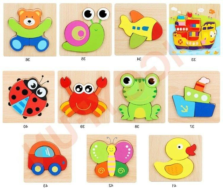 Wooden Puzzles For Toddlers Kids Educational