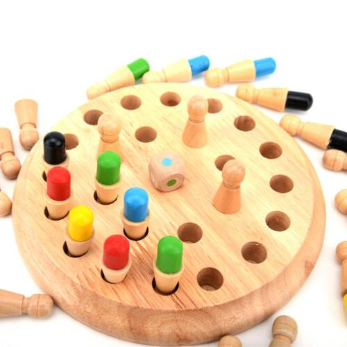 Wooden Match Chess Children