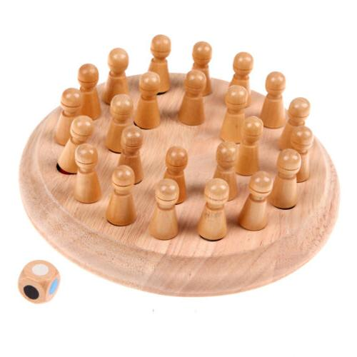 Wooden Memory Chess Game Children Puzzle Educational Toys