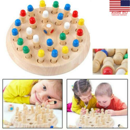 wooden memory match stick chess game children