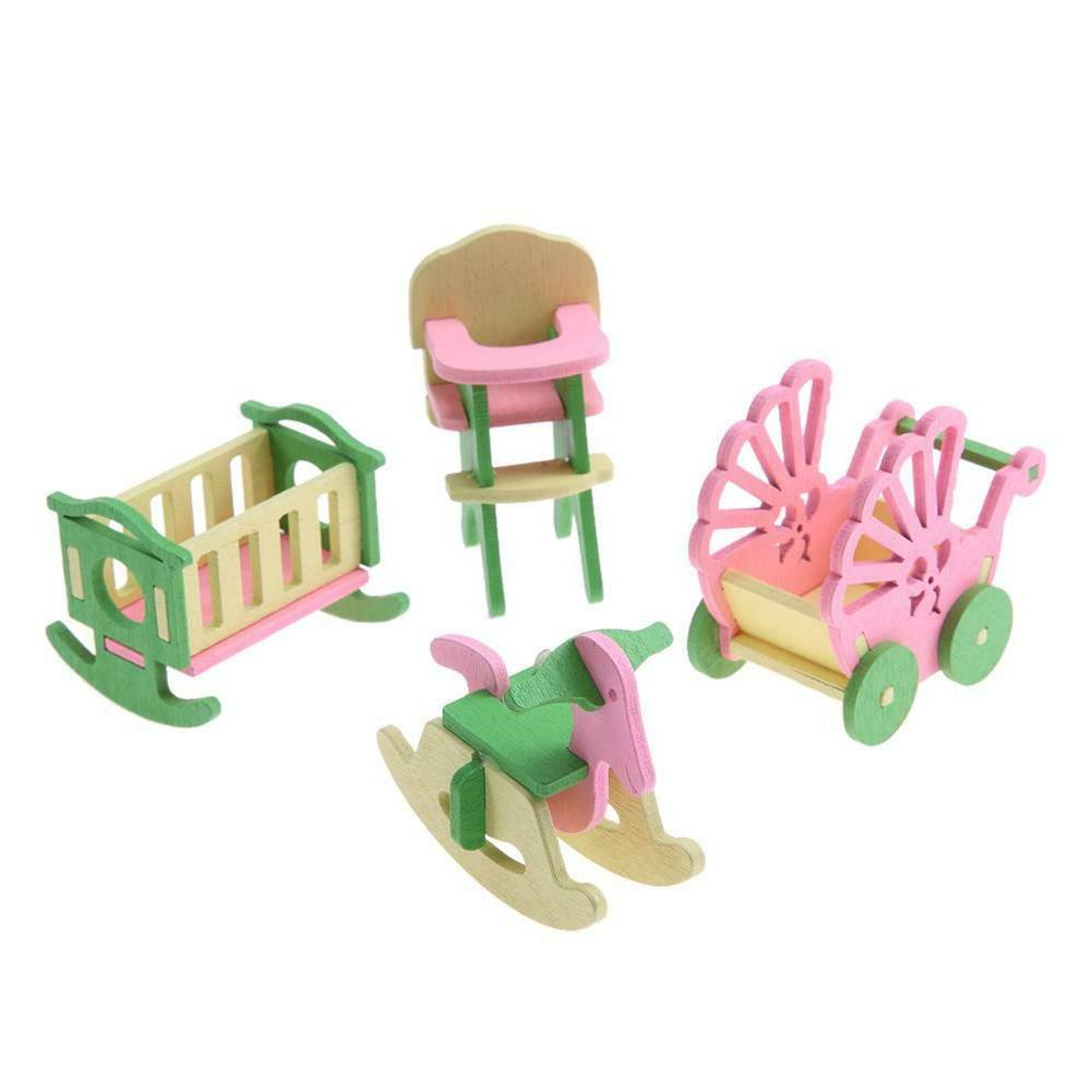 Wooden Miniature Furniture Set Kids