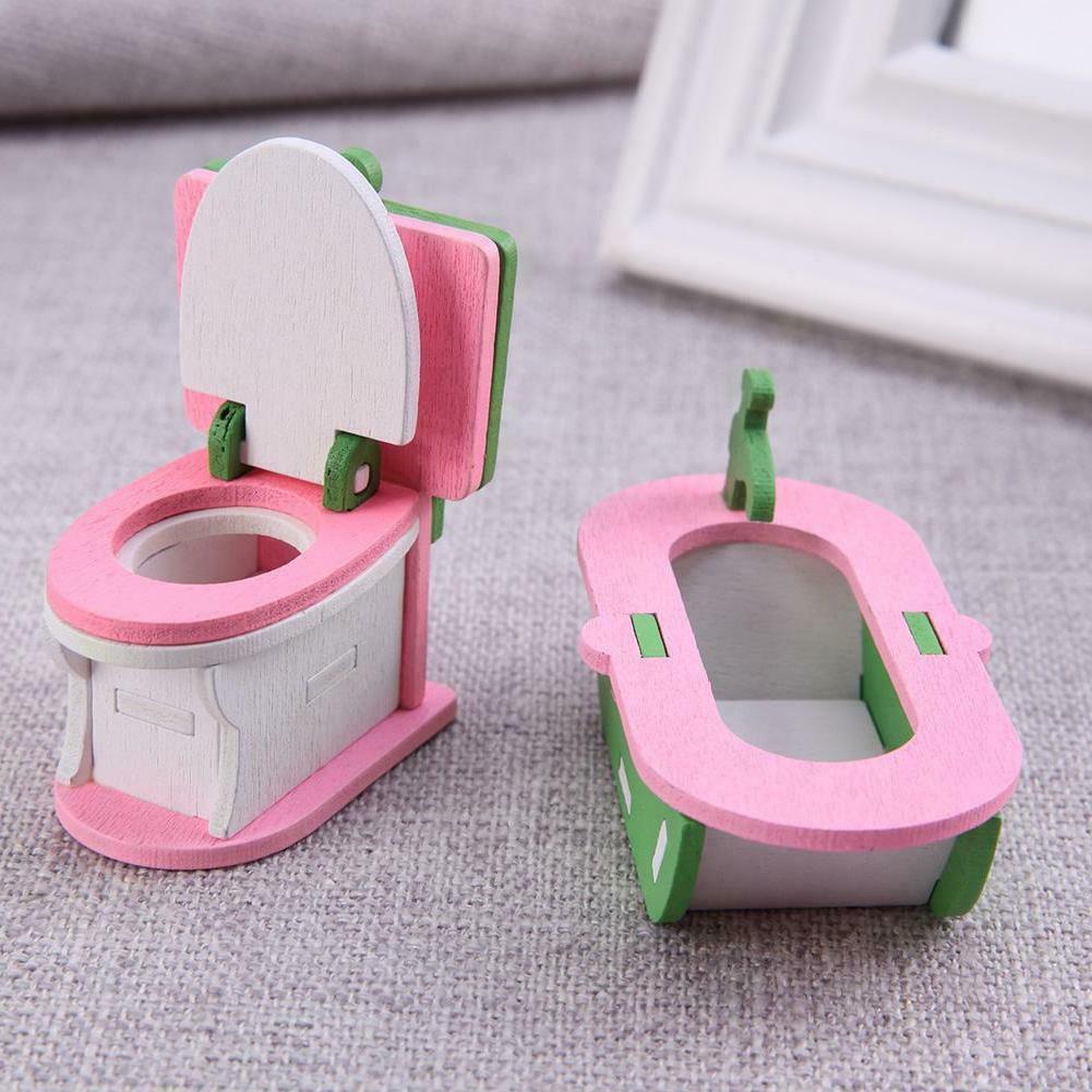 Wooden Miniature Furniture Kids Educational Toys WT7n