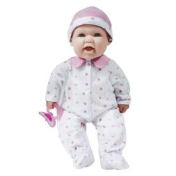La Baby 16-inch Pink Washable Soft Baby Doll with Baby Doll