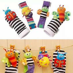 Lamaze Rattle Set /Baby Sensory Toy Socks/Wrist Rattles Brac