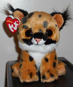 """Ty Beanie Baby ~ LARRY the 6"""" Lynx / Cat ~ Plush Toy  2017 D"""