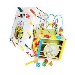 LEO & FRIENDS Large Activity Cube 5 in 1 Toys Baby
