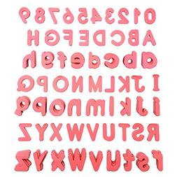 Light Pink Alphabet Magnets, 78pcs Lowercase Magnetic Letter