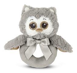 Bearington Baby Lil' Owlie Plush Stuffed Animal Gray Owl Sof