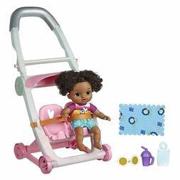 Baby Alive Littles Push 'N Kick Stroller - Little Lola Black