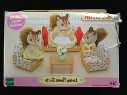 Calico Critters Living Room Suite Set Village House Home Cot