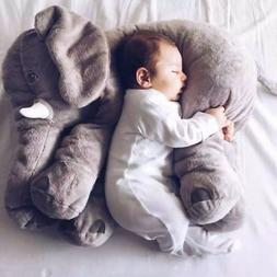 Long Nose Elephant Doll Pillow Soft Plush Stuff Lumbar Pillo