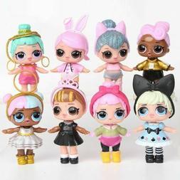 Lot of 8 pcs LOL Surprise Dolls Figures Set Baby Tear Series