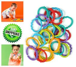 Bright Starts Lots of Links Accessory Toy Flexible Baby Toy